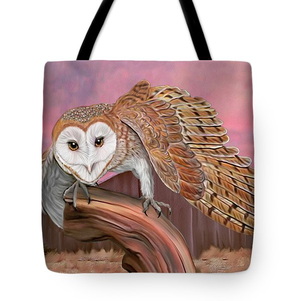 Barn Owl Tote Bag by Walter Colvin