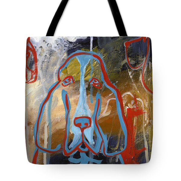 Tote Bag featuring the painting Basset Hound  by Leanne WILKES