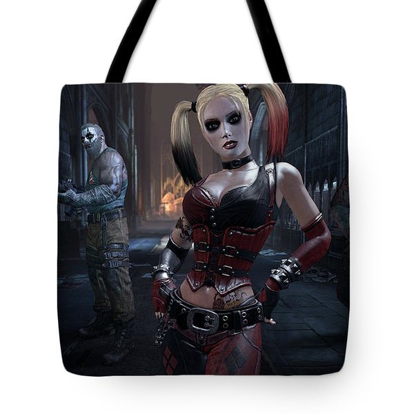 Batman Arkham City Tote Bag