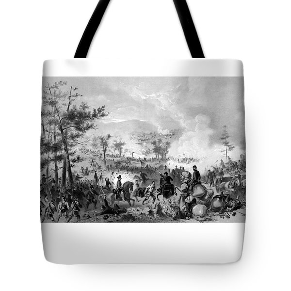 Tote Bag featuring the drawing Battle Of Gettysburg by War Is Hell Store