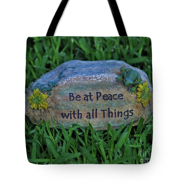 Tote Bag featuring the photograph 2- Be At Peace by Joseph Keane