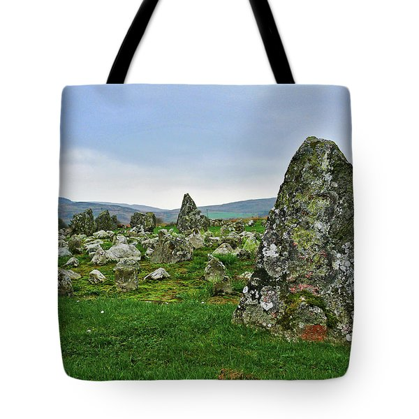 Tote Bag featuring the photograph Beaghmore Stone Circles by Colin Clarke