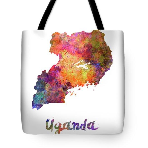 Uganda In Watercolor Tote Bag