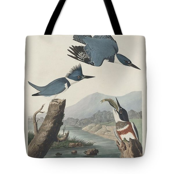 Belted Kingfisher Tote Bag by Rob Dreyer