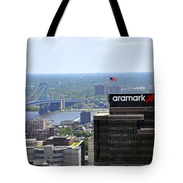 Ben Franklin Bridge Tote Bag