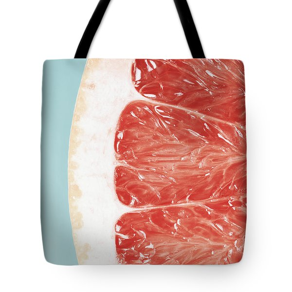 Blood Orange Slice Macro Details Tote Bag