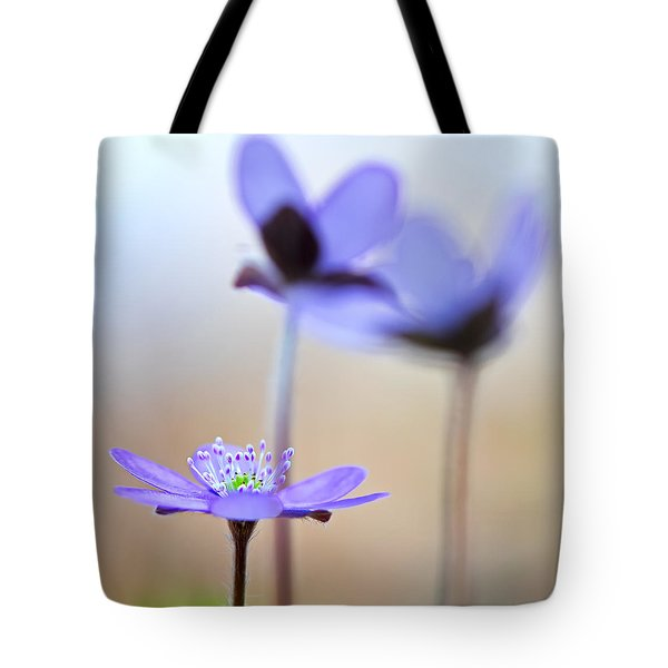 Blue Spring Wild Flower Tote Bag
