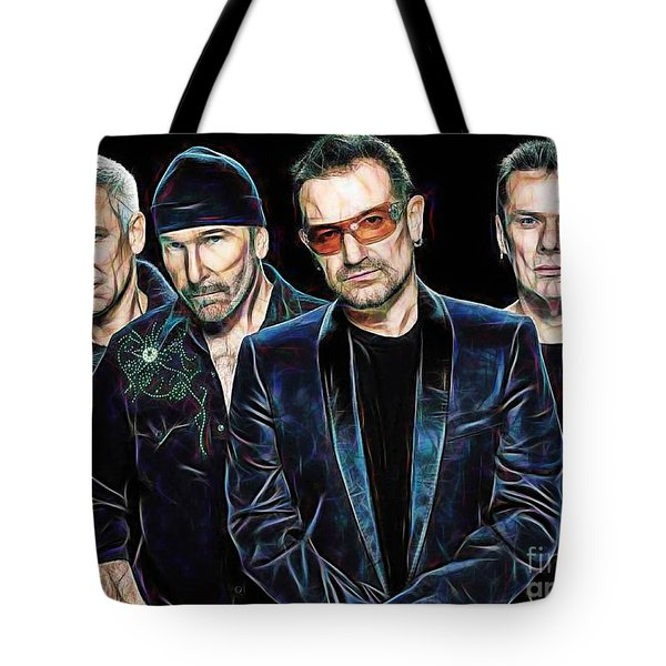 Bono U2 Collection Tote Bag by Marvin Blaine