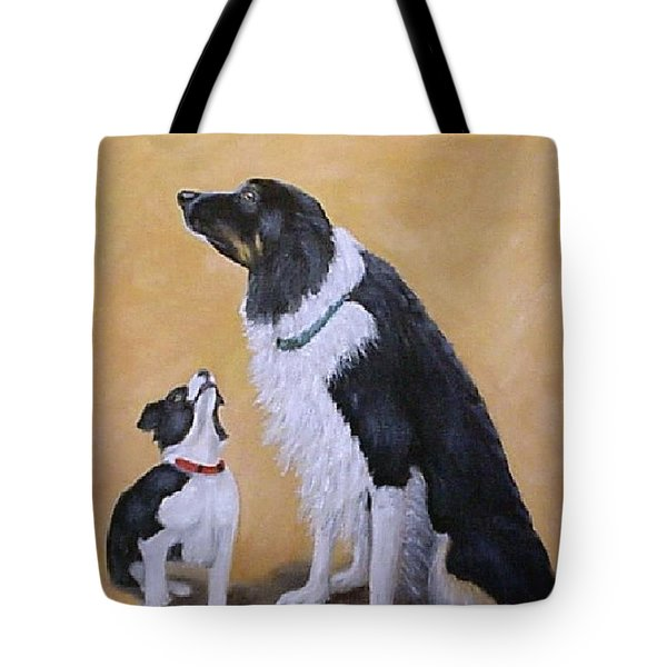 Border Collie Wisdom Tote Bag