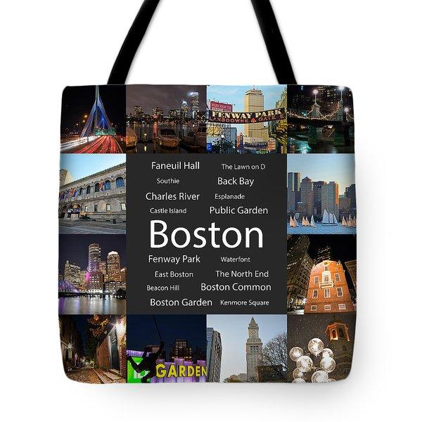 Boston Ma Collage Tote Bag