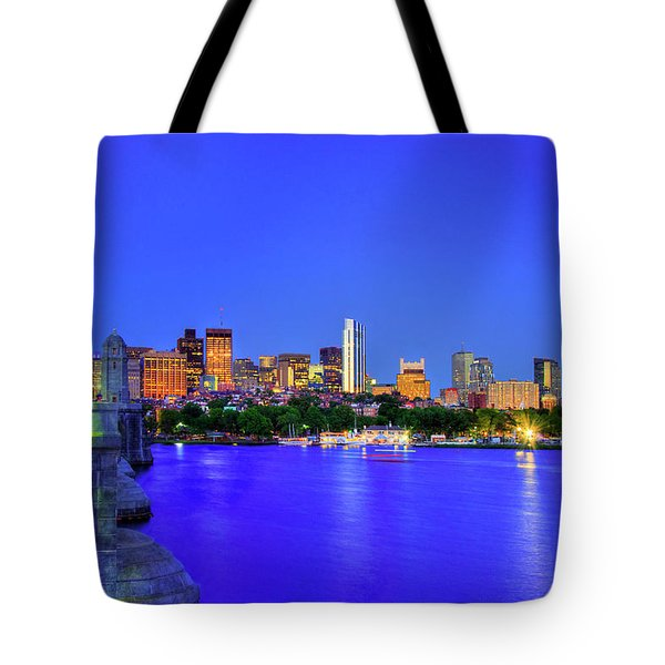 Tote Bag featuring the photograph Boston Skyline From The Charles River by Joann Vitali