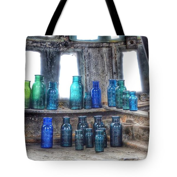 Bromo Seltzer Vintage Glass Bottles  Tote Bag