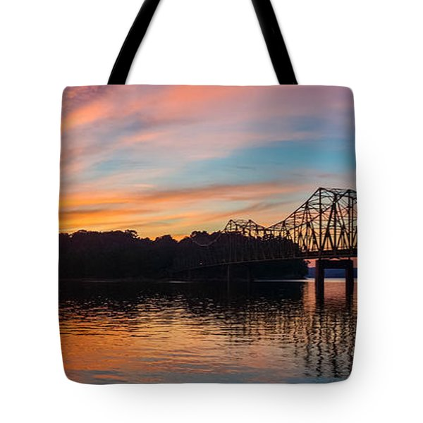 Browns Bridge Sunset Tote Bag