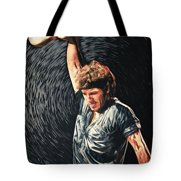 Bruce Springsteen Tote Bag by Taylan Apukovska