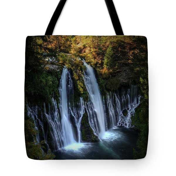 Tote Bag featuring the photograph Burney Falls by Kelly Wade