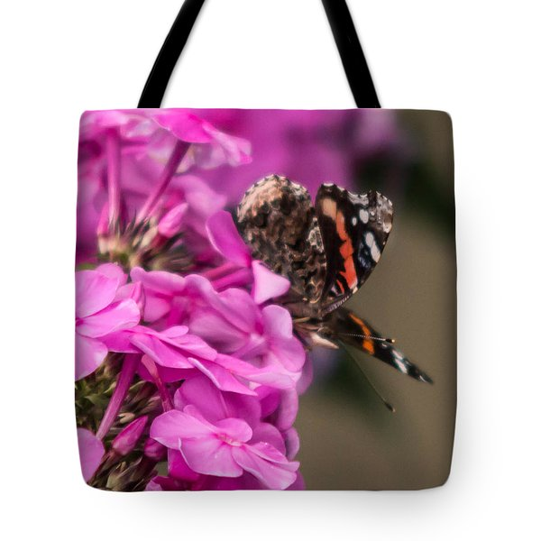 Tote Bag featuring the photograph Butterfly by Cathy Donohoue