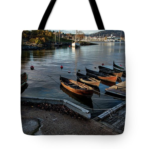 Bygdoy Harbor Tote Bag