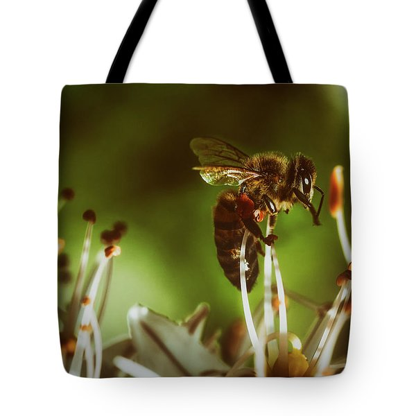 Tote Bag featuring the photograph Bzzz by Michael Siebert