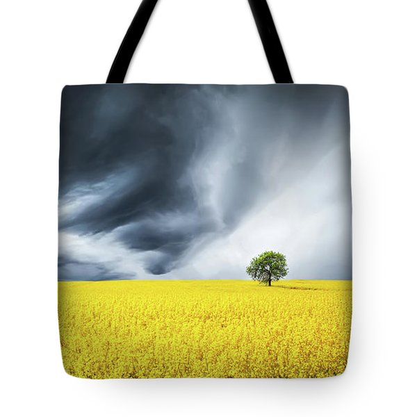 Canola Field Tote Bag by Bess Hamiti