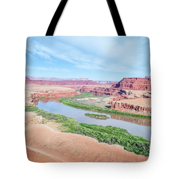 Canyon Of Colorado River In Utah Aerial View Tote Bag