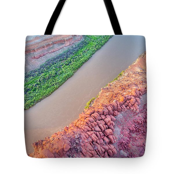 Canyon Of Colorado River - Sunrise Aerial View Tote Bag