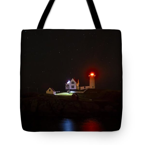 Cape Neddick/nubble Light. York Beach, Maine. Tote Bag