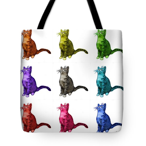 Cat Art - 3771 Bb Tote Bag