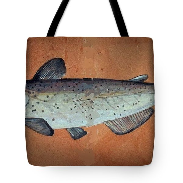 Catfish Tote Bag by Andrew Drozdowicz