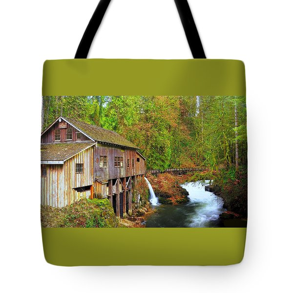 Cedar Creek Grist Mill Tote Bag by Steve Warnstaff