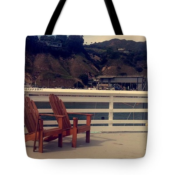 2 Chairs In Malibu Tote Bag