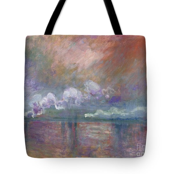 Charing Cross Bridge Tote Bag by Claude Monet