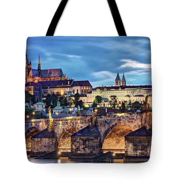 Charles Bridge And Prague Castle / Prague Tote Bag