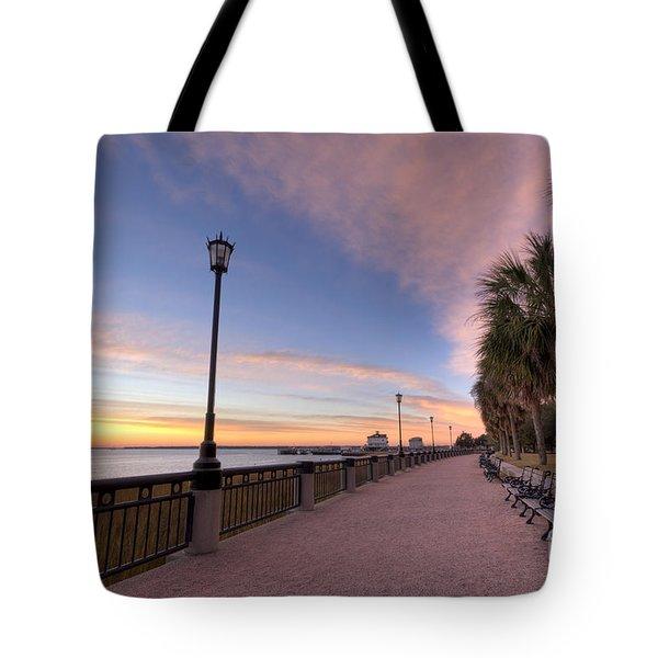 Charleston Waterfront Park Sunrise  Tote Bag