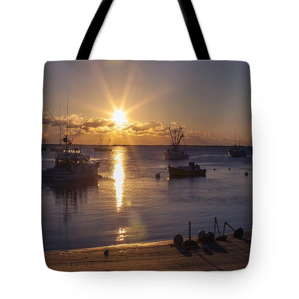 Tote Bag featuring the photograph Chatham Sunrise by Charles Harden
