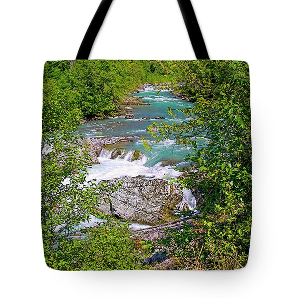 Tote Bag featuring the photograph Cheakamus River by Sharon Talson