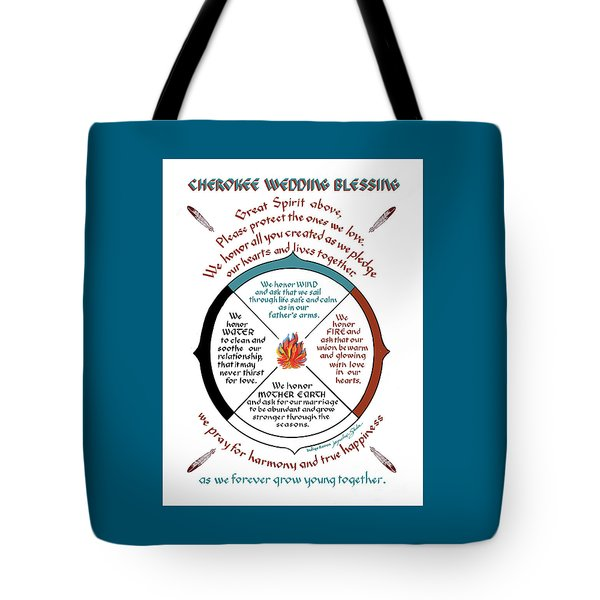 Cherokee Wedding Blessing Tote Bag