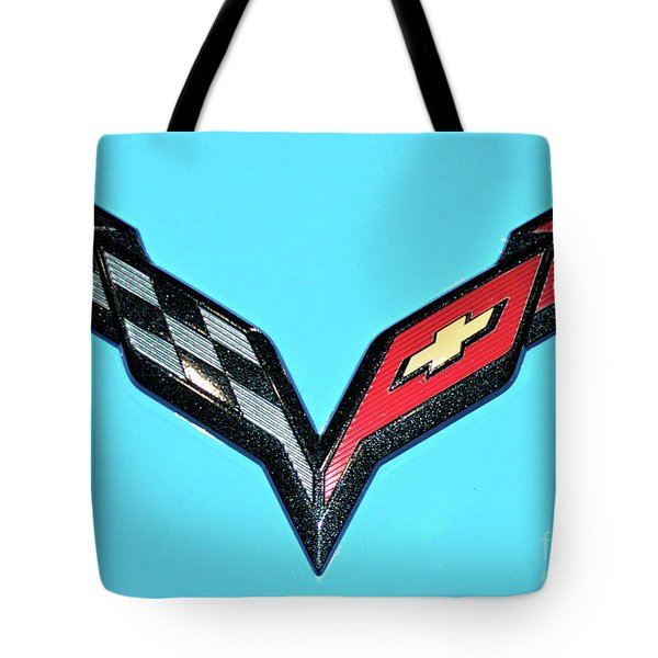 Chevy Emblem Tote Bag by Pamela Walrath