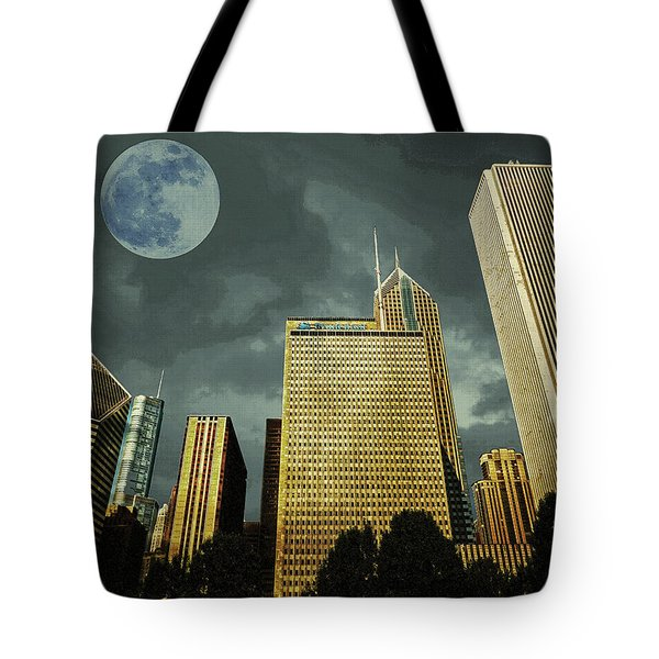 Tote Bag featuring the photograph Chicago by Artistic Panda