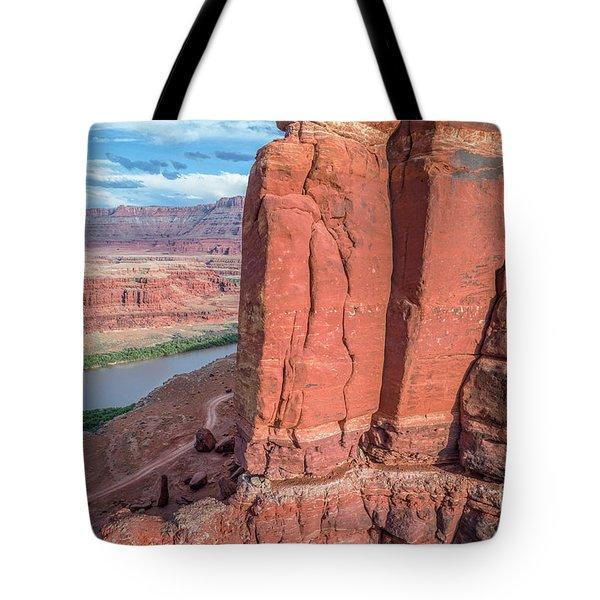 Chicken Corner Trail And Colorado River Tote Bag
