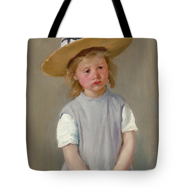 Child In A Straw Hat Tote Bag