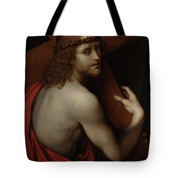 Christ Carrying His Cross Tote Bag