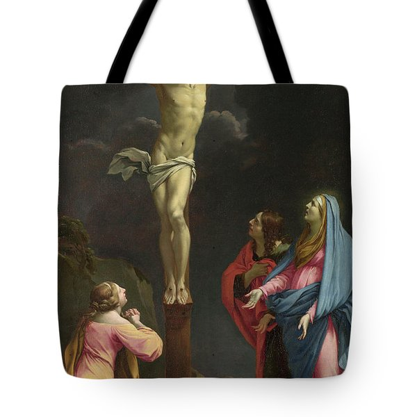 Christ On The Cross With The Virgin And Saints Tote Bag