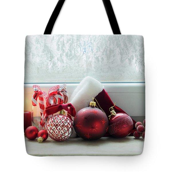 Christmas Windowsill Tote Bag