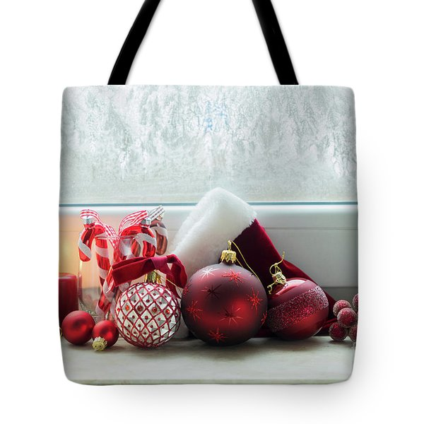 Christmas Windowsill Tote Bag by Anastasy Yarmolovich