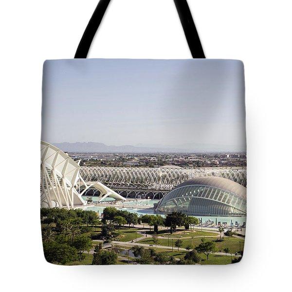 Ciudad De Las Artes Y Ciencias Valencia Tote Bag