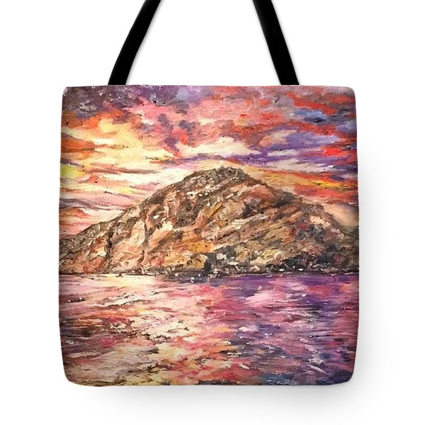 Tote Bag featuring the painting Close To You by Belinda Low