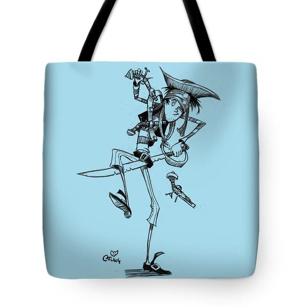 Clumsy Pirate Tote Bag