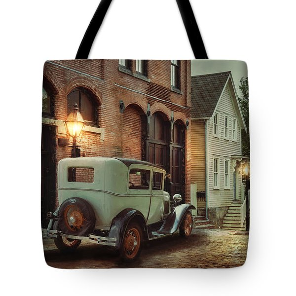 Tote Bag featuring the photograph Cobblestone Streets by Robin-Lee Vieira