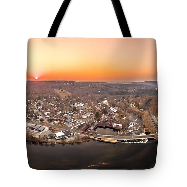 Colinsville, Connecticut Sunrise Panorama Tote Bag by Petr Hejl