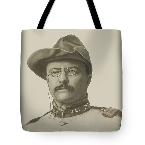 Colonel Theodore Roosevelt Tote Bag by War Is Hell Store